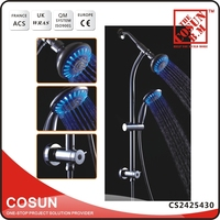 Bathroom Shower Faucet Set Led Rain Shower Set with Hand Spray