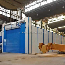 Sand Blasting Room for Steel Fabricators/Construction Equipment