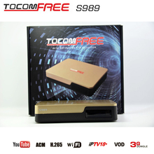 New satellite receiver tocomfree s989 with ACM H.265 USB wifi iptv18+ Vod Youtube 3G dongle for South America