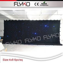 hot selling starry sky lighting fiber optic led star cloth
