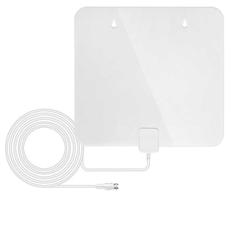 HD digital antenna for indoor 35 miles TV antenna 1080p tv watching with white color wall-mount