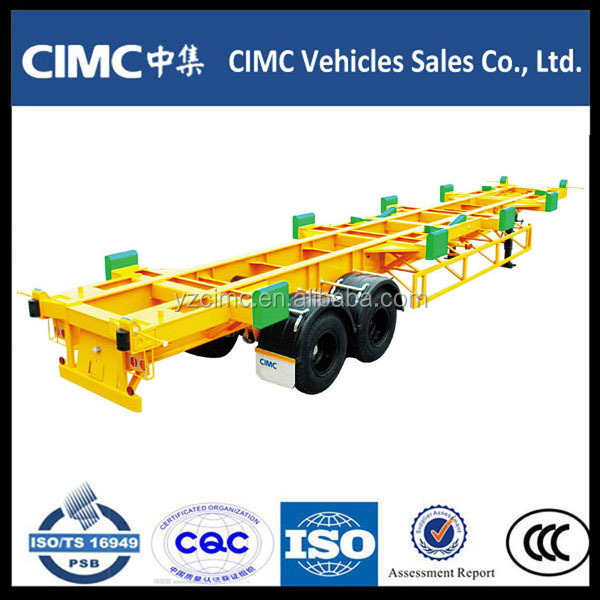 widely used container chassis trailer/ 2 axel Terminal trailers/ 20ft