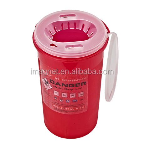 Plastic Sharps Containers Medical Waste medical syringe square or round sharp container safety box for needle collections