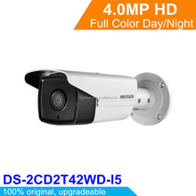 International English Hikvision 4MP EXIR Network Bullet Camera H.264 IP Camera DS-2CD2T42WD-I5