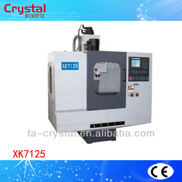 China high precision cnc milling machine bed type lathe milling machine XK7125