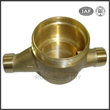 brass water flow meter body for cold/hot water