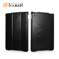 ICARER Waterproof Real Leather 3-Folding Flio Case for iPad Pro 10.5""