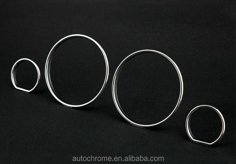 Car Accessory Chrome Gauge Dash Board Rings Bezel for BMW E32 E34 7 Series 5 Series