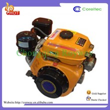 Recoil/Electric Start Single Cylinder 4 Stroke Diesel Engine Generator
