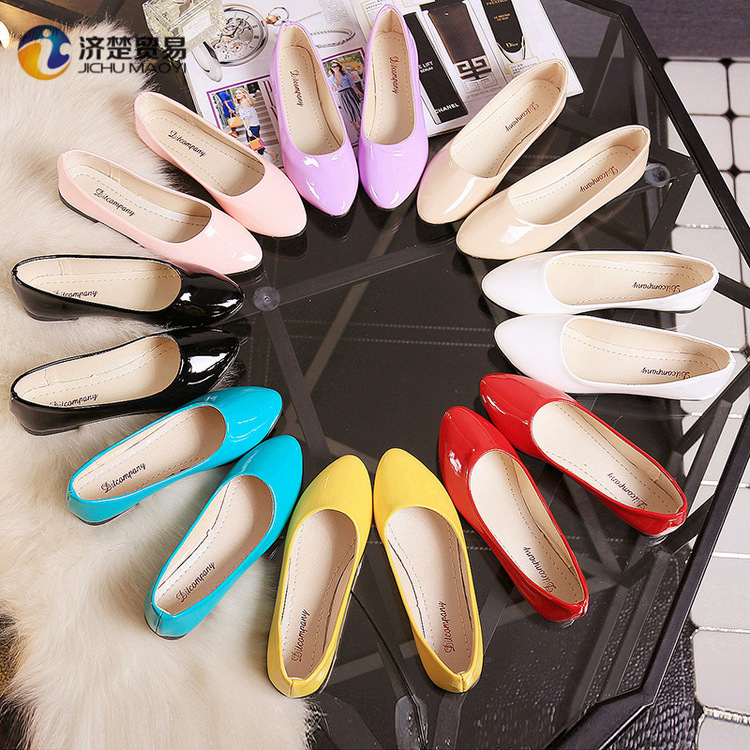 8 colors ladies flat shoes PU women shoes 2017