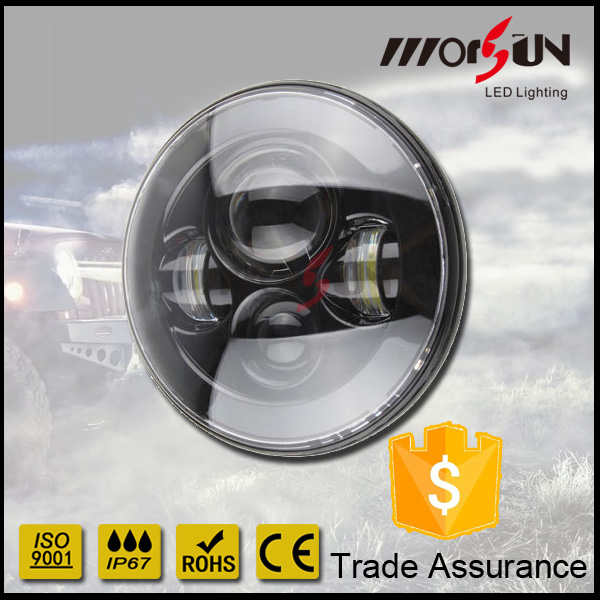 "7 inch LED Headlamp Conversion Kit for Jeep Wrangler JK 07-14 7"" led head lamp no radio interference"