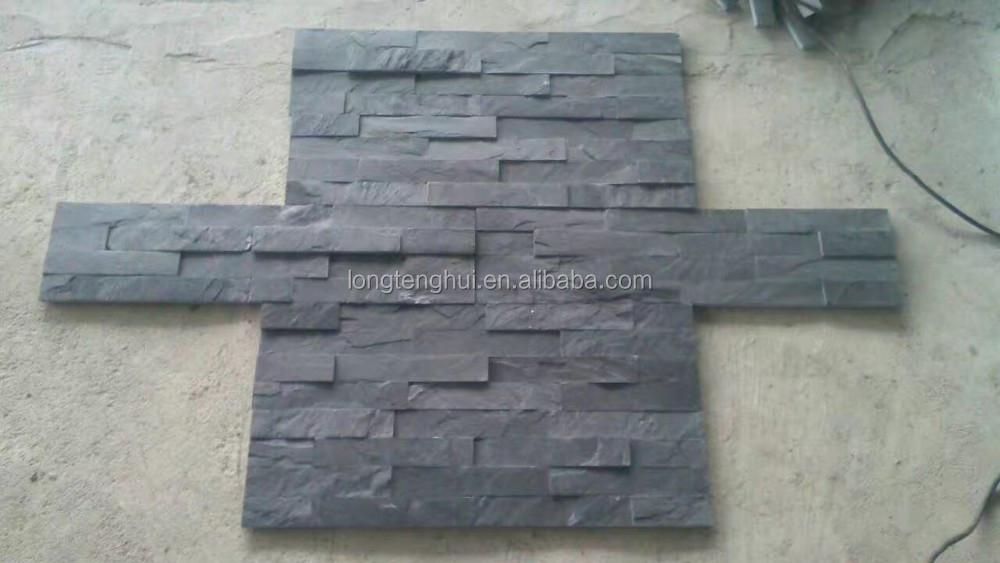 Cheap And Natural Black Decorative Stone Wall Slate Facade