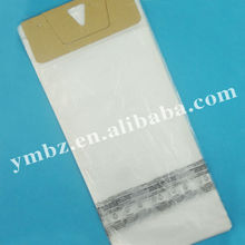 One color printed 0.02mm thick plastic wicket pe bag with paper card