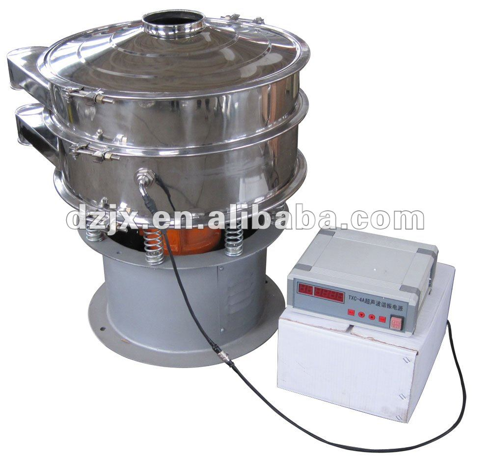Rotary Vibrating Screen Sieve with Ultrasonic Transducer for Chemical Processing