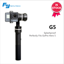 Hot Sale FeiyuTech G5 handled 3-axis black gimbal for action camera with splash-proof for GoPr o/ AEE/ YI 4K