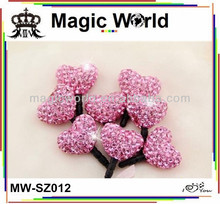 Lovely heart shape cell phone anti dust plug charm