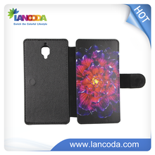 2D leather custom blank sublimation mobile phone case for one plu 3