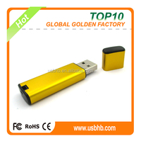new style free laser logo full capacity golden usb flash drive for America
