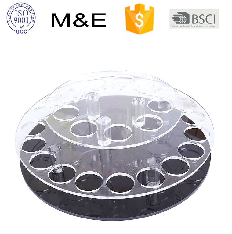 Acrylic Desktop Rotating Cosmetic Lipstick Display Stand Mascara Holder