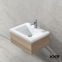 bathroom face basin marble wash basin with cabinet