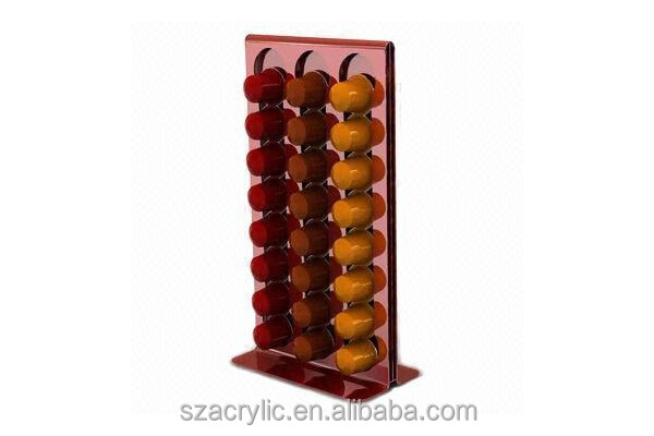 stores 48pcs Acrylic Coffee Capsule stand