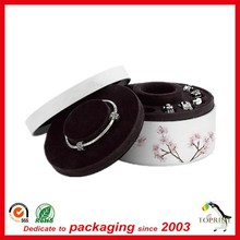 Luxury color paperboard jewelry gift box round paper red tubes Guangdong Manufacturer