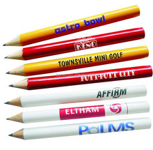half size pencil,Round/hexagonal Personalized Logo Imprinted Golf Pencil