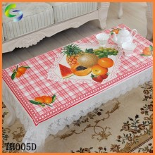 Best quality cheap linen table cloth pvc material