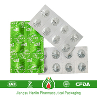 customized pharmaceutical foil tablet packaging pe foil