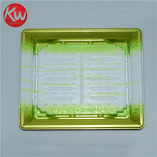 KW-8302GZA-GN Printed disposable packaging PS plastic sushi food fruit tray