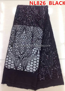 polyester mesh lace/ lace mesh sequins net lace fabric bride dress