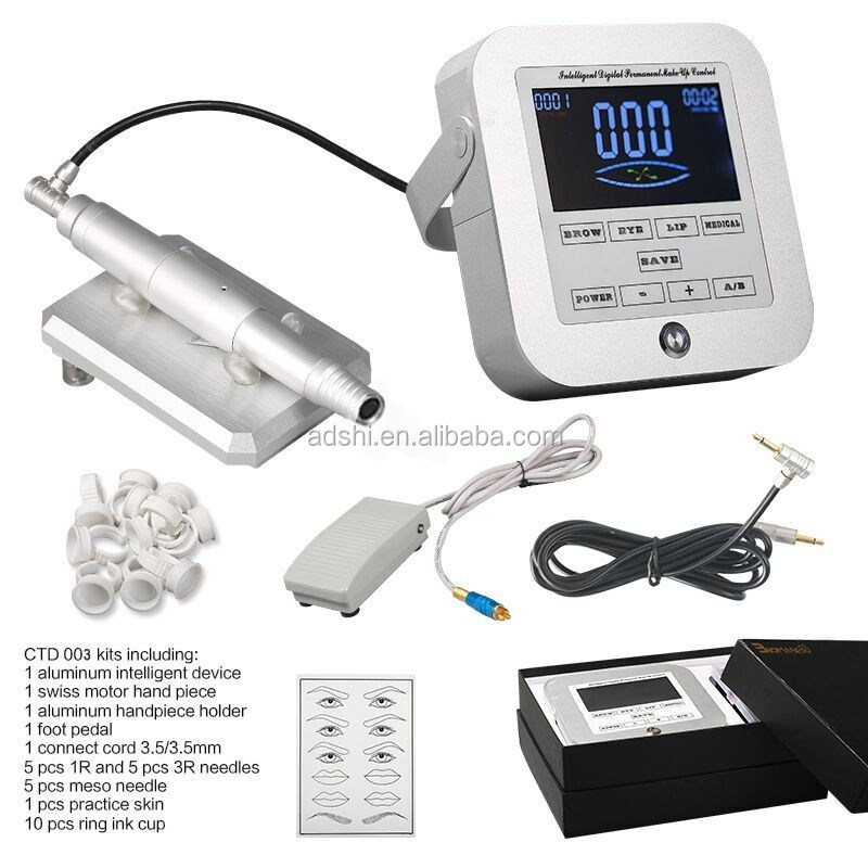 Digital Intelligent Professional Permanent Makeup Tattoo Microneedle Machine for Eyebrow& Lip