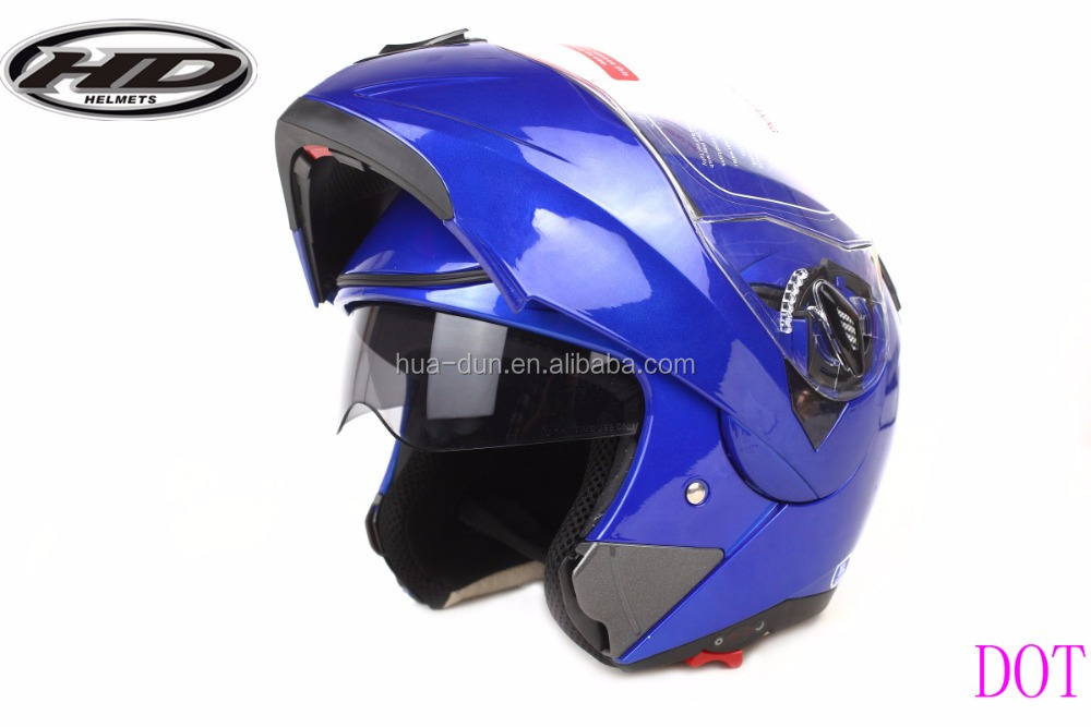 ABS material dual visor flip up helmet cascos motorcycle HD-701