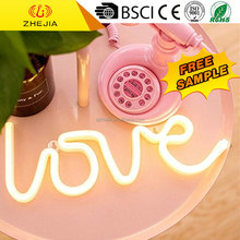 DDZX1008 Plastic love shape LED neon sign decoration light