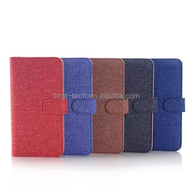 Delicate 3 folding stand book style leather case for iphone 6, Magnetic flip button purse case for iphone6s