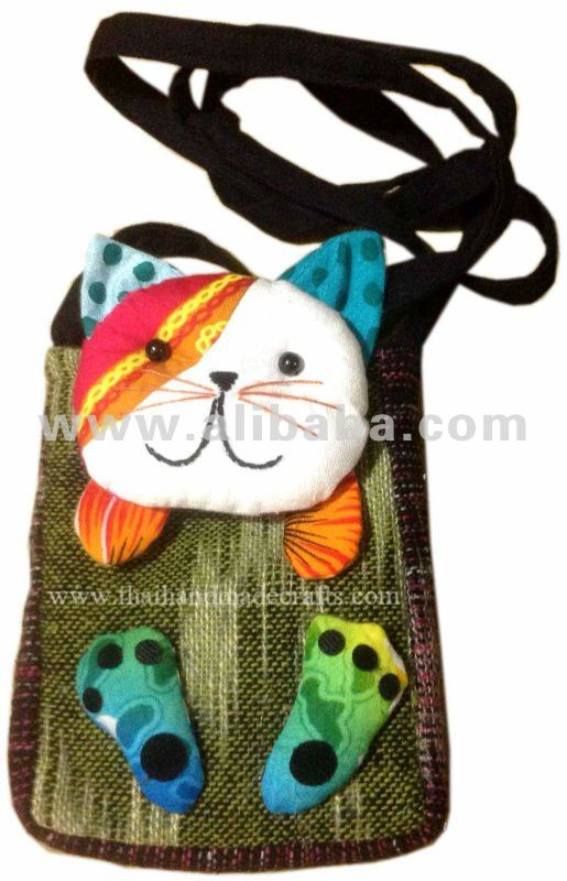 Beautiful and Cute colorful Cat bag case handmade for iphone 5 Cheap