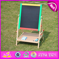 2017 new wooden kids easel,popular wooden children easel,hot sale baby wooden easel W12B033