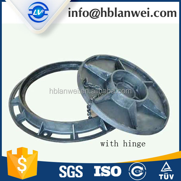 China Foundry D400 Ductile Iron Manhole Cover with Hinged