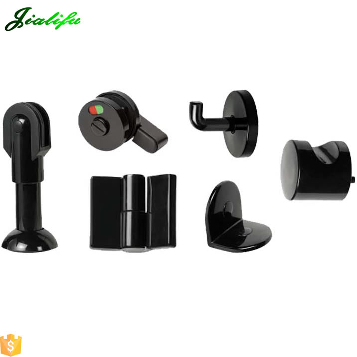 Durable nylon plastic toilet door locks and hinges shower accessories