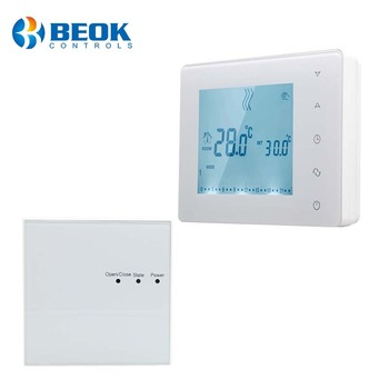 200 meters wireless transmission distance house wireless bolier room thermostat white backlight