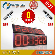 6 Digit Clocks LED Sign red color double sides outdoor high waterproof!!!