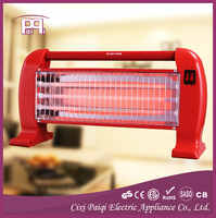Halogen quartz tube infrared heater 3 quartz lamps, energy-saving quartz infrared heaters