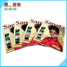 oem printing customized softcover photo book magazine with perfect binding