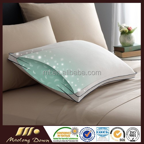 Hot sale best quality White Double Goose Down Around Soft Pillow