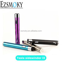 High quality Newest Tesla sidewinder 2 battery 2000mah variable voltage ego battery vaporizer pen