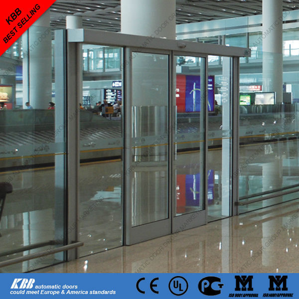 Commercial automatic sliding glass doors, motor, radar, certificate