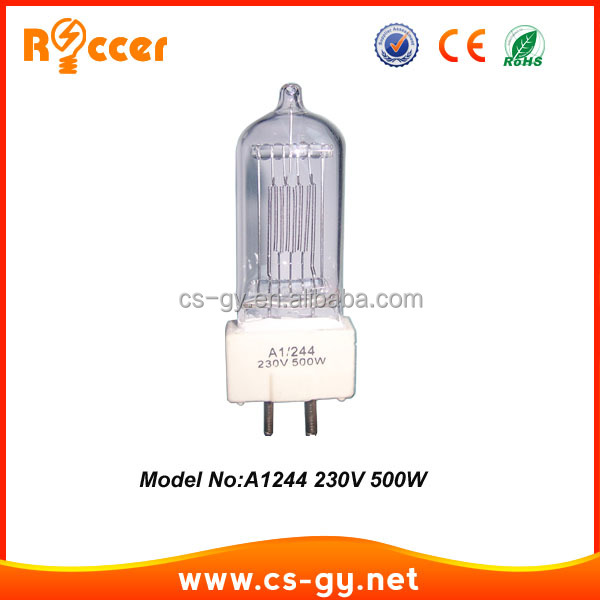 Cheap 230v 500w A1244 halogen lamp 500w price