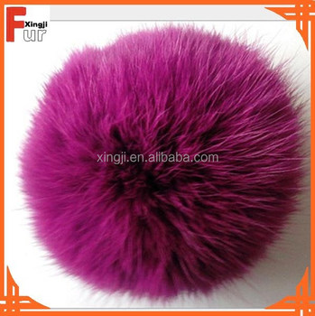 2015 Hotsale colorful rabbit fur pom poms