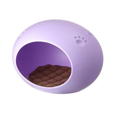 RoblionPet New Candy Colored Egg Shaped Plastic Acrylic Dog Beds