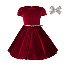 Pettigirl belt frock design christmas dresses for girl